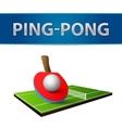 Table tennis pingpong rackets emblem vector image