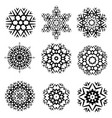 hipster snowflake vector image