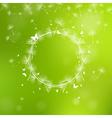 Summer background with dandelion seeds vector image