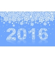 2016 background of snowflakes number text vector image vector image