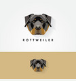 3d low polygon rottweiler vector image
