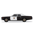 70s police car vector image vector image