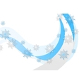 Abstract blue wavy Christmas background vector image vector image