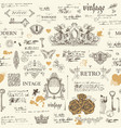 abstract seamless pattern with sketches and notes vector image vector image