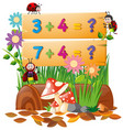 adding numbers on the board vector image vector image
