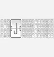 airport flip white board alphabet for flight vector image