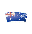 australia flag on a white vector image vector image