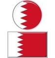Bahraini round and square icon flag vector image