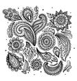 Beautiful vintage floral ornament vector image