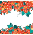 Blossom red flower background vector image vector image