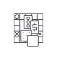 board games line icon concept board games vector image vector image