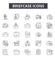 briefcase line icons for web and mobile design vector image vector image