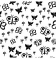 butterfly silhouettes black vector image vector image