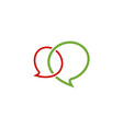 chat talk logo vector image vector image