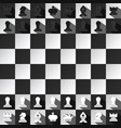 chess game design top view black and white vector image