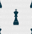 Chess king sign Seamless pattern with geometric vector image