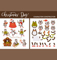 christmas dog character constructor canine vector image