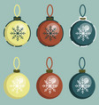 decoration balls on the fir-tree vector image vector image