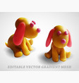 dog animal toy gradient mesh vector image