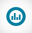 equalizer icon bold blue circle border vector image vector image
