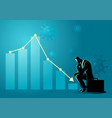financial and economic crisis due covid-19 vector image
