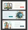 flat design banners headers set vector image