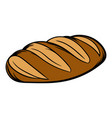 fresh bread can icon cartoon vector image