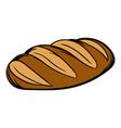 fresh bread can icon cartoon vector image vector image