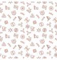 genetics outline minimal seamless pattern vector image