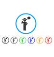 gentleman speech rounded icon vector image vector image