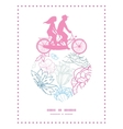 gray and pink lineart florals couple on vector image vector image
