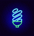 halogen electric lamp neon sign vector image