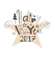 hand drawn lettering Happy New Year 2017 vector image vector image