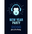 Happy New Year 2016 Flyer Banner or Pamphlet vector image vector image