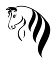 Head horse with beauty hair l vector image vector image