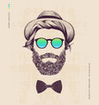 hipster with hat vector image