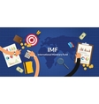 imf international monetary fund concept vector image vector image
