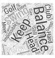 Key to Better Golf revised Word Cloud Concept vector image vector image