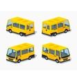 Low poly yellow passenger minivan vector image vector image