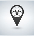 map pointer of biological hazards on the area map vector image