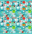 medicine tile pattern vector image vector image