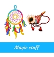 Native American and shamanic magical supplies vector image vector image