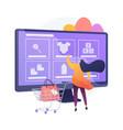 online shopping concept metaphor vector image vector image