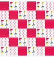 patchwork pattern for girls vector image