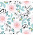 pattern plumeria and gerbera flowers and vector image vector image
