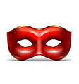 realistic 3d detailed red colombina mask vector image