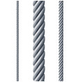 realistic detailed 3d different steel rope set vector image vector image