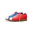 realistic red and blue bowling shoes isolated on vector image vector image
