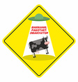 Road sign yellow tow road sign Parking is vector image