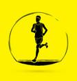 running man sport man sprinter marathon runner g vector image vector image